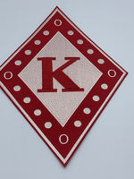 "Kappa Alpha Psi - 10"" Embroidered (Iron on) Patch"