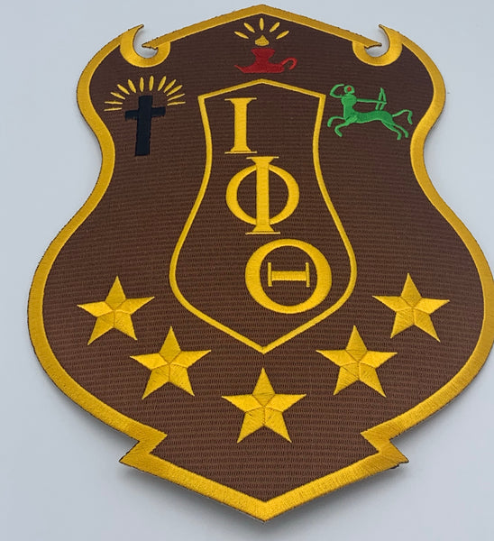 "Iota Phi Theta - 10"" Embroidered (Iron on) Patch"