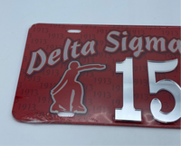 Delta Sigma Theta - Line Number License Plate #15