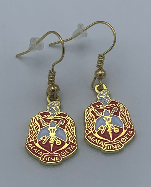 Delta Sigma Theta - Shield Earrings