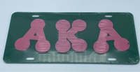 Alpha Kappa Alpha - Bubble Letters Acrylic License Plate