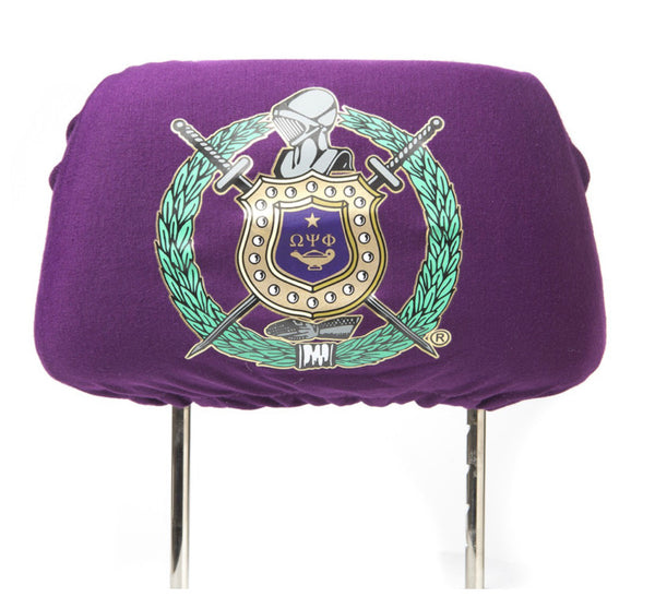 Omega Psi Phi -  Car Seat Head Rest Cover
