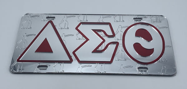 Delta Sigma Theta - Letters w/Embossed Lady Fortitude Mirror License Plate