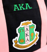 Alpha Kappa Alpha - Canvas Bag (Black)