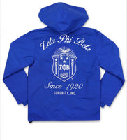 Zeta Phi Beta - Embroidered Windbreaker (Blue)