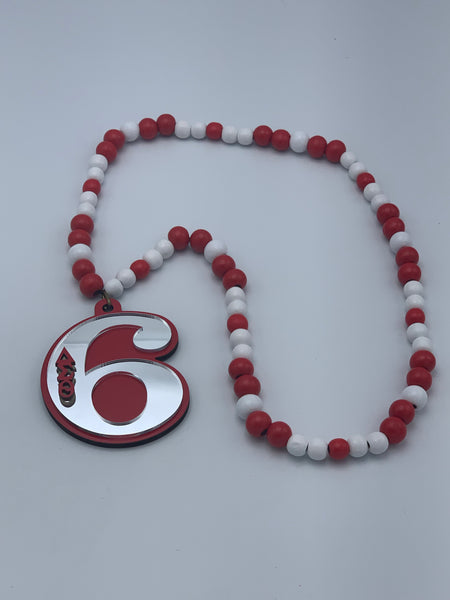 Delta Sigma Theta - Line Number Necklace  (Beaded) #6