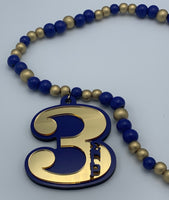 Sigma Gamma Rho - Line Number Tiki Necklace #3