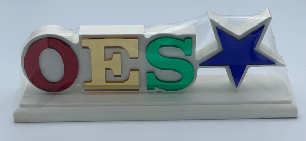 "Order of The Eastern Star - Colored Desktop Letter Set 11"" x 4.5"""