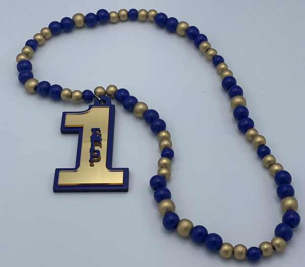 Sigma Gamma Rho - Beaded Line Number Tiki Necklace #1