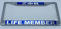 Zeta Phi Beta - Life Member License Plate Frame