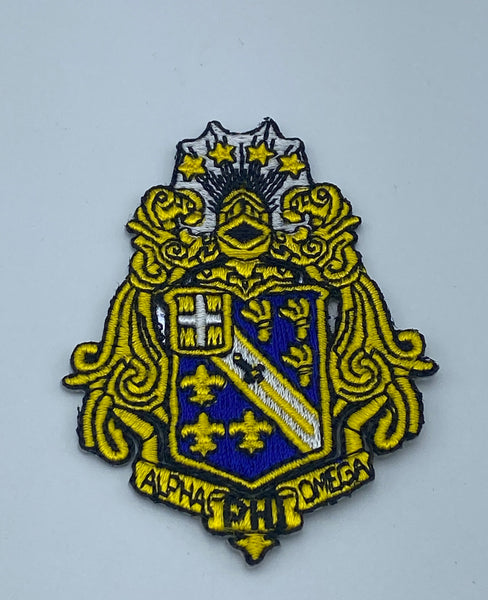 "Alpha Phi Omega - 3"" Shield (Iron on) Patch"