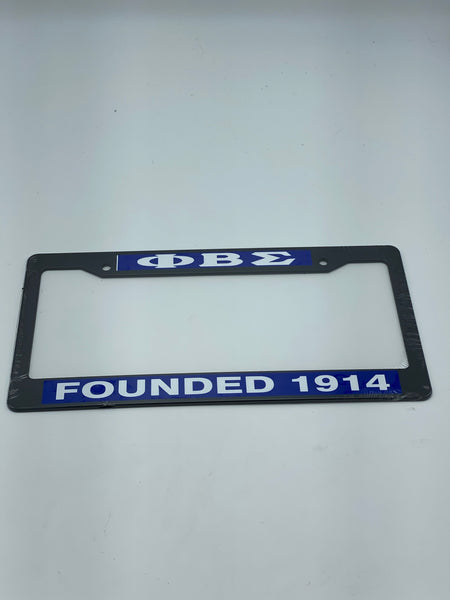 Phi Beta Sigma - Plastic Founded License Plate Frame