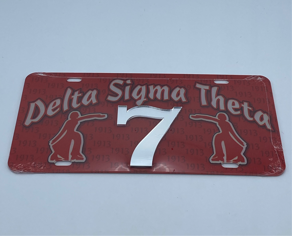 Delta Sigma Theta - Line Number License Plate #7