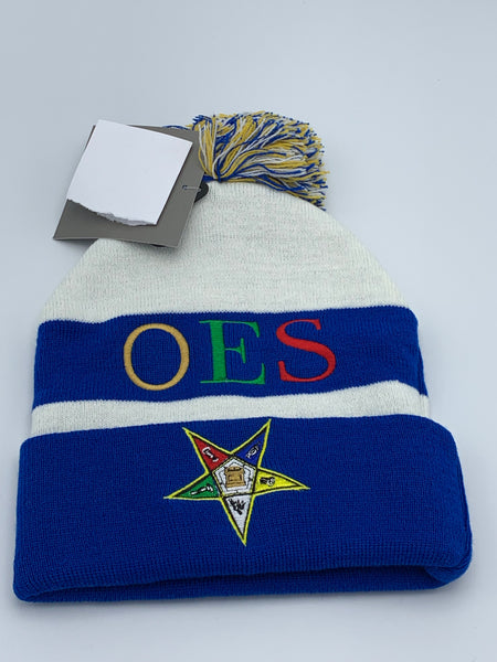 Order of The Eastern Star -Beanie Hat w/PomPom
