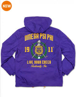 Omega Psi Phi - Embroidered Windbreaker