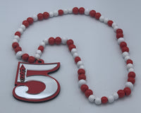 Delta Sigma Theta - Line Number Necklace (Beaded) #5
