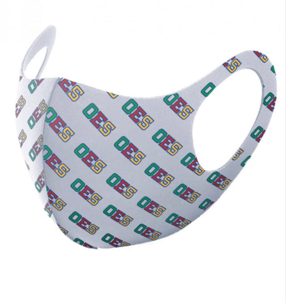 Order of The Eastern Star - (Breathable) Face Mask/White