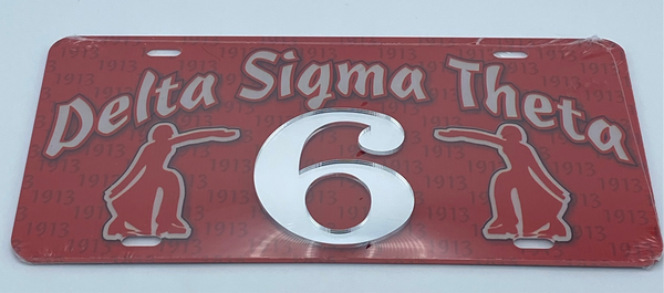 Delta Sigma Theta - Line Number License Plate #6