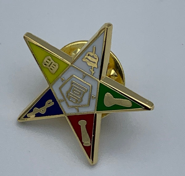 Order of The Eastern Star - Shield Lapel Pin