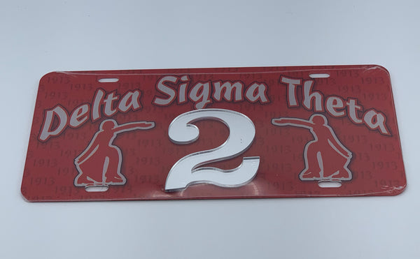 Delta Sigma Theta - Line Number License Plate #2