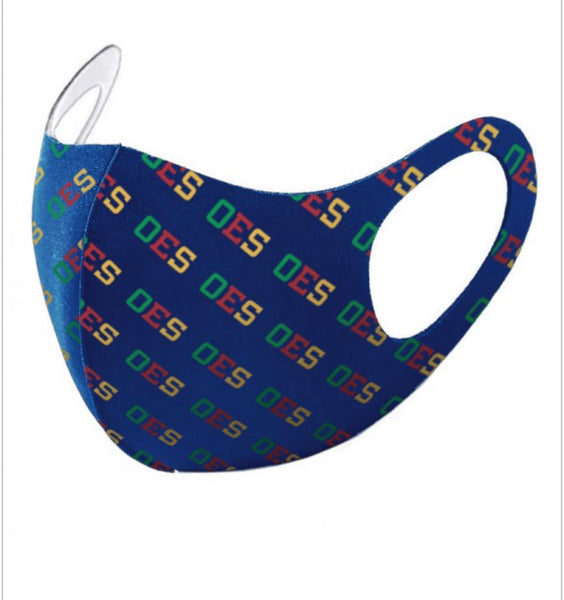 Order of The Eastern Star - (Breathable) Face Mask/Blue