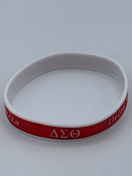 Delta Sigma Theta - Silicon Wrist Band (Striped)