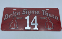 Delta Sigma Theta - Line Number License Plate #14