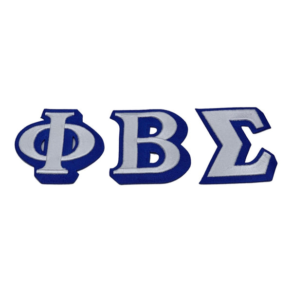 Phi Beta Sigma - Embroidered Letter Patch Set (Iron on)