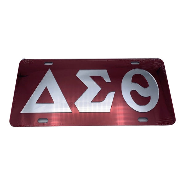 Delta Sigma Theta - Red Mirror License Plate