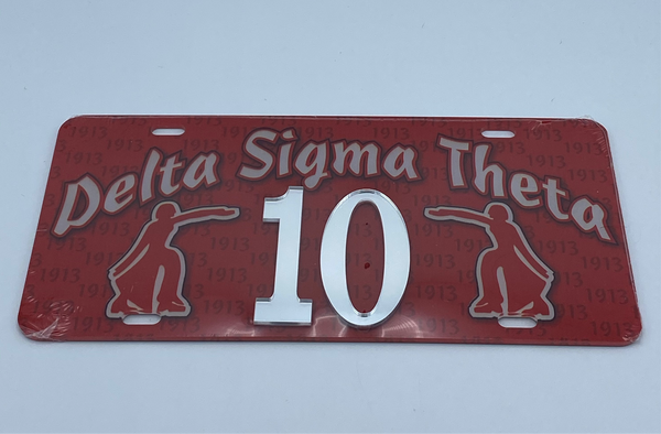 Delta Sigma Theta - Line Number License Plate #10