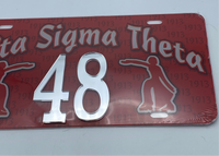Delta Sigma Theta - Line Number License Plate #48