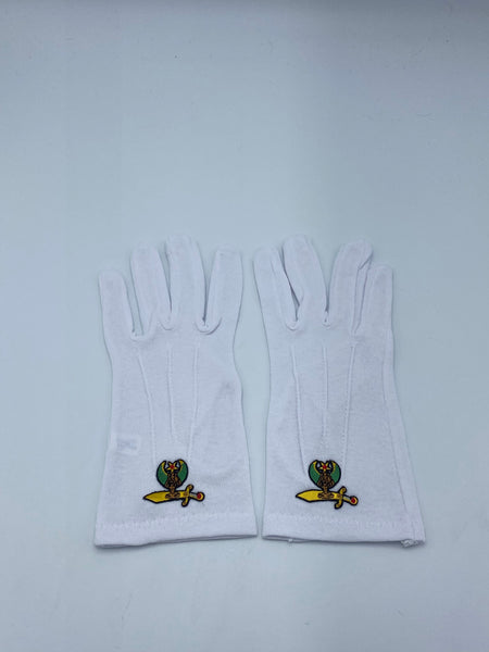 Shriner - White Gloves (Size XL)