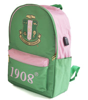 Alpha Kappa Alpha - Backpack w/USB Port