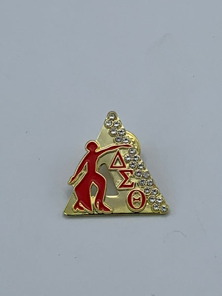 Delta Sigma Theta - Bling Lapel Pin/Gold (Fortitude)
