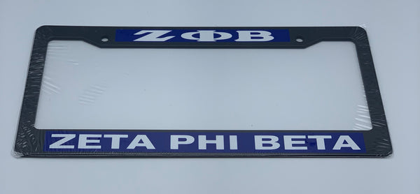 Zeta Phi Beta - Plastic License Plate Frame
