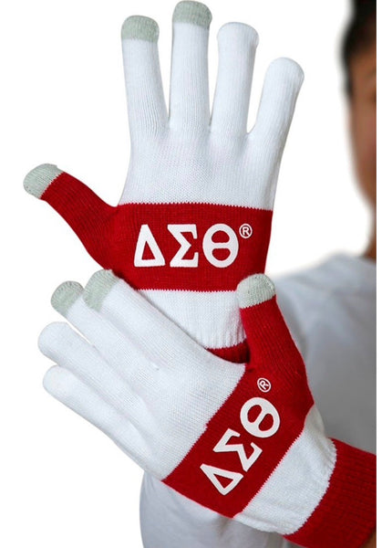 Delta Sigma Theta - Knit Texting Gloves