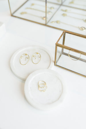 ZOYA GOLD EARRINGS & STACKING RINGS