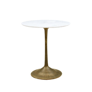 Aahil Marble and Brass Table