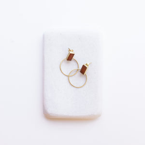 Baalee Gold Earrings - Carnelian