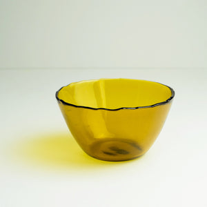 Dulari Glass Bowl - Amber Glass