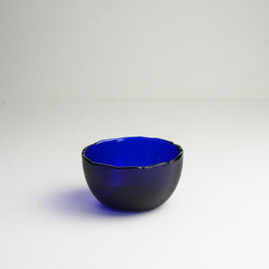 Dulari Glass Nibbles Bowl - Blue Glass