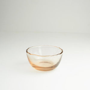 Dulari Glass Nibbles Bowl - Pink Glass