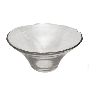 Dulari Glass Serving Bowl - Clear Glass