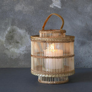Small Ira Bamboo Lantern - Natural