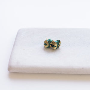 Java Stud Earrings - Malachite
