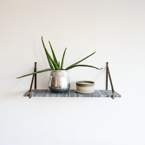 Myna Marble Shelf - Grey