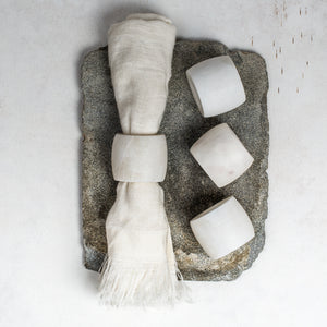 Makrana Napkin Rings (set of 4) - White