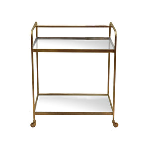 Rhu Drinks Trolley - Brass