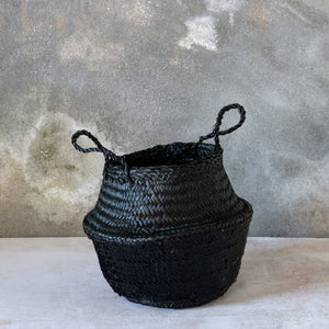 Black Toulouse Sequin Basket - Black