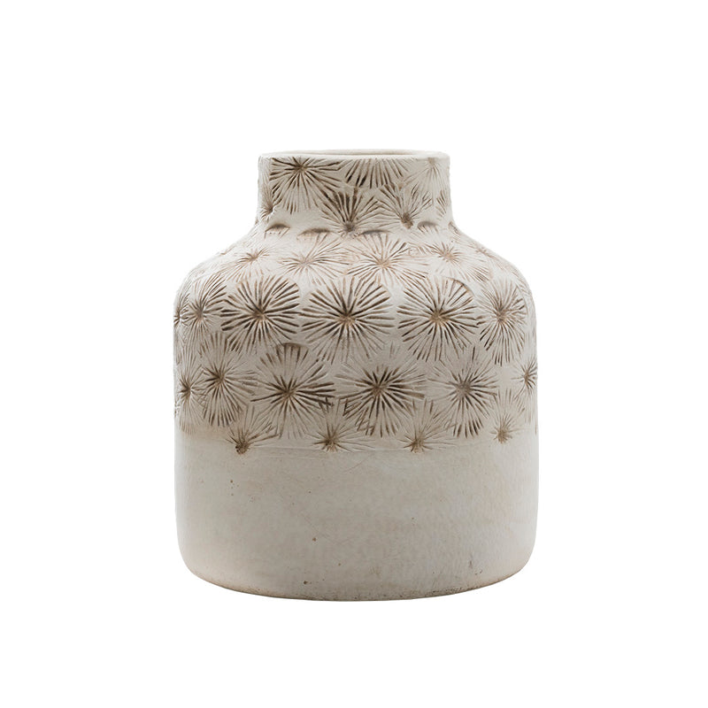 Zinnia Ceramic Vase - Cream